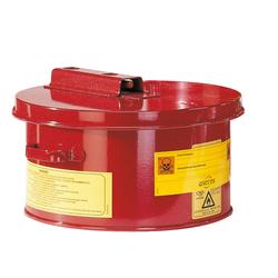 ASECOS Wasch- und Tauchbehälter St.bl. vz.+besch. Rot V=4 L, ØxH 238x140