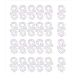 BigDean Hakenleiste 24er Set Dachrinnen−Haken 3,6 cm rund für Lichterketten − Für Dachpfannen −Für Lichterketten bis zu 0,7 cm Durchmesser