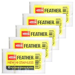 FEATHER Rasierklingen 5 x 10er Pack