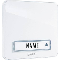 M-e modern-electronics KTA-1W Klingelplatte mit Namensschild 1fach Weiß 12 V/1A