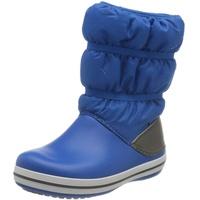 Crocs Unisex-Kinder Crocband Winter Boot Kids Schneestiefel, Bright Cobalt Light Grey, 25/26