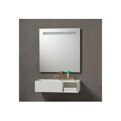 Badspiegel Lökken, Breite 80 cm weiß