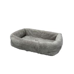 Tiersofa de Luxe für Hunde und Katzen, L65 x B90 x H20 cm, grau