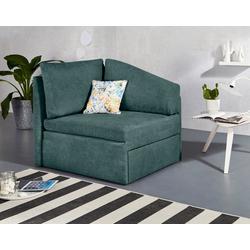 INOSIGN Relaxliege Tiny Delta Relax-Recamiere, aus Recamiere im Handumdrehen ein Schlafsofa incl. Lattenrost grün
