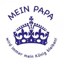 Vatertag Holzstempel - Papa König (Ø 40 mm)