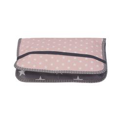 ULLENBOOM ® Windeltasche Windeltasche für unterwegs Rosa Grau (Made in EU), Windeletui, Wickeltasche für bis zu 3 Windeln, Feuchttücher & weiteres Zubehör rosa
