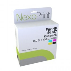 Druckerpatrone für HP Nr.56+57 NexoPrint - NX-SA342AE