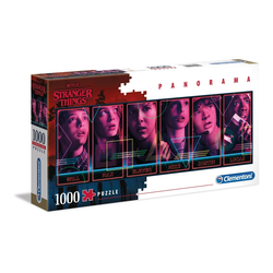 Clementoni® Puzzle 39548 Stranger Things 1000 Teile Panorama Puzzle, 1000 Puzzleteile, Panorama Format