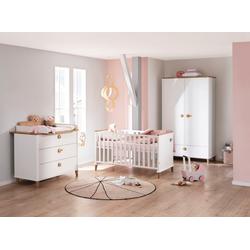 PAIDI Babymöbel-Set Lotte & Fynn, (4-St., Babybett, Wickelaufsatz und Wickelkommode, 2-türiger Schrank), Steiff by Paidi