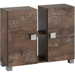 Schildmeyer Waschbeckenunterschrank Edia beige Bad-Waschbecken-Unterschränke Badmöbel Schränke