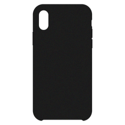 Apple iPhone XS Leder Case, Schwarz