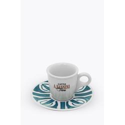 Caffè A. Nannini Espressotasse mit blauer Untertasse