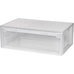 KREHER Aufbewahrungsbox 36 Liter, mit Schublade weiß