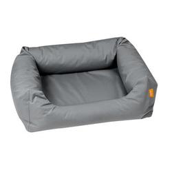 Hundebett Dreambay Eckig, 120 x 95 x 28 / 14 cm, grau