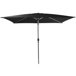 AMARE Sonnensegel Luxus Sonnenschirm eckig, Wetterfest schwarz