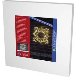 Konstsmide 3078-102 LED-Fensterbild Schneeflocke Warmweiß LED Klar