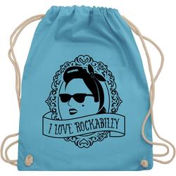 Shirtracer Turnbeutel I Love Rockabilly - Frau - Rockabilly - Turnbeutel
