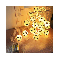 Gotui LED-Lichterkette, 1,5M 10 LED Fußball Fußball Fee Lichterkette Kinder Junge Schlafzimmer Party Dekor Lampe