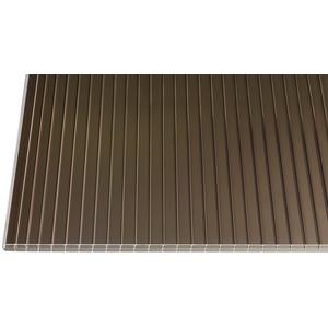 Polycarbonat Stegplatten Hohlkammerplatten bronce 16 mm (3500 x 1200 x 16 mm)