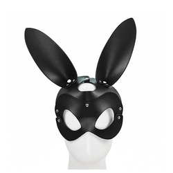 Sandritas Erotik-Maske Bunny Maske Hase Bondage BDSM Kopfmaske Kunstleder Rollenspiel, Gurt: verstellbar von 54 bis 67 cm, Größe Maske: 21 x 15 cm, Länge Ohren: 20,5 cm