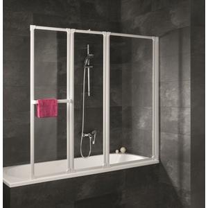 Schulte Komfort Badewannenfaltwand 3-teilig Softline hell Alpinweiß 1518mm - D1410 04 01 Rechts