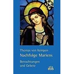Nachfolge Mariens. Thomas von Kempen  - Buch