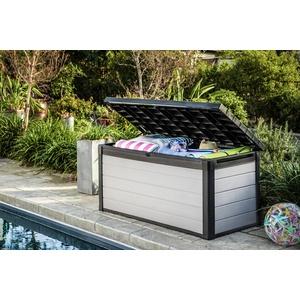 Keter Kissenbox Denali 150, 570L, grau, Auflagenbox Gartentruhe Gartenbox