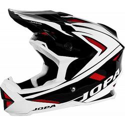 Jopa Flash Fahrradhelm - Schwarz/Weiß/Rot - XS