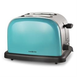 Toaster 2 Scheiben 6 Stufen Retro Breitschlitz aufwärmfunktion »TK BT 318 V«, Toaster, 48227461-0 blau blau