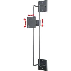 TFT-Wandhalter Modell 150 mit Höheneinstellung VESA 75/100 silber