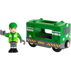 BRIO Spielzeug-Eisenbahn WORLD Frachtlok mit Fahrer, FSC-Holz aus gewissenhaft bewirtschafteten Wäldern grün Kinder Kindereisenbahnen Autos, Eisenbahn Modellbau