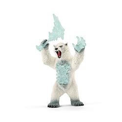 Schleich® Eldrador 42510 Blizzard Bär mit Waffe Spielfigur