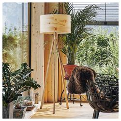 LeuchtNatur Stehlampe Ligno 150cm Holzfuß Zirbe