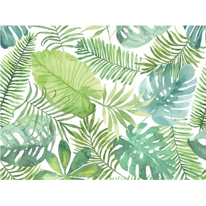 Platzset, Tischset, Platzset abwaschbar - Tropische grüne Palmenblätter - 4 Stück aus erstklassigem Vinyl (Kunststoff) 40 x 30 cm, Tischsetmacher, (4-St)