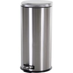 HOMCOM Treteimer mit Inneneimer silber, schwarz 29,2 x 62,5 cm (ØxH)   Abfalleimer Abfallsammler Kücheneimer Mülleimer