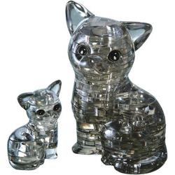 HCM Kinzel 3D Crystal Puzzle Katzenpaar 49 Teile