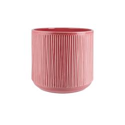 Übertopf ¦ rosa/pink ¦ Keramik Ø: 23