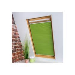 Dachfensterplissee Universal Dachfenster-Plissee, Liedeco, verdunkelnd, ohne Bohren, verspannt, Fixmaß grün 103 cm x 141 cm