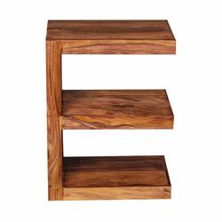Design Beistelltisch in E-Form Sheesham Massivholz