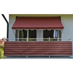 Angerer Freizeitmöbel Klemmmarkise, weinrot-weiß, Ausfall: 150 cm, versch. Breiten rot Klemm-Markisen Markisen Garten Balkon Klemmmarkise