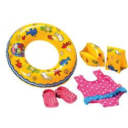 Puppen-Schwimmset mit Zubehör, Größe 35 - 45cm 88