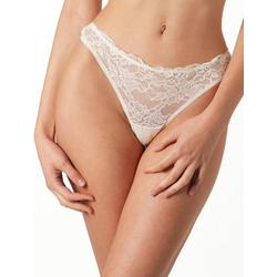 Yenita® String mit zarter Spitze weiß XL