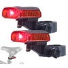 2er-Set LED-Fahrrad-Rücklichter, Akku, USB-Ladekabel, StVZO-zug., IPX4