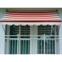 Angerer Freizeitmöbel Klemmmarkise, rot/beige, Ausfall: 150 cm, versch. Breiten rot Klemm-Markisen Markisen Garten Balkon Klemmmarkise