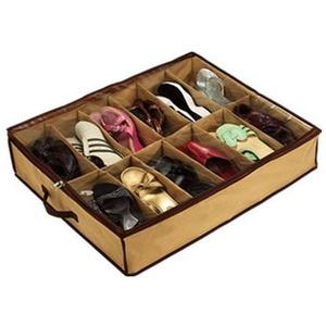 Kylewo Underbed Schuh Organizer Schuh-Aufbewahrung für 12 Paar Schuhe, Unterbettkommode Unter Bett Schuhe Stauraum Lösung