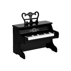 HOMCOM Spielzeug-Musikinstrument Kinderklavier elektrisch schwarz