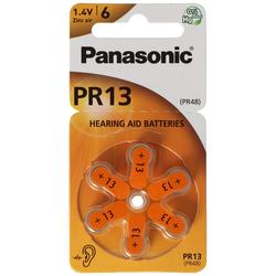 Panasonic PR13 Hörgerätebatterien PR-13/6LB, Hörgerätezellen 13 Zink Air 6er Rad