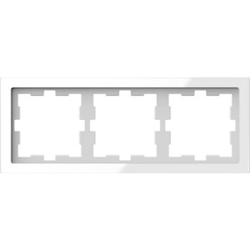 Merten MEG4030-6520, D-Life Glas Rahmen, 3fach, Kristallweiß