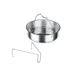 Fissler Dampfgareinsatz, mit Dreibein silberfarben Zubehör für Töpfe Haushaltswaren Topfeinsätze