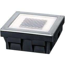 Paulmann LED Einbauleuchte Cube, Bodeneinbauleuchten-Set, Solar, Edelstahl